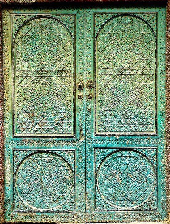 Blue-green doors