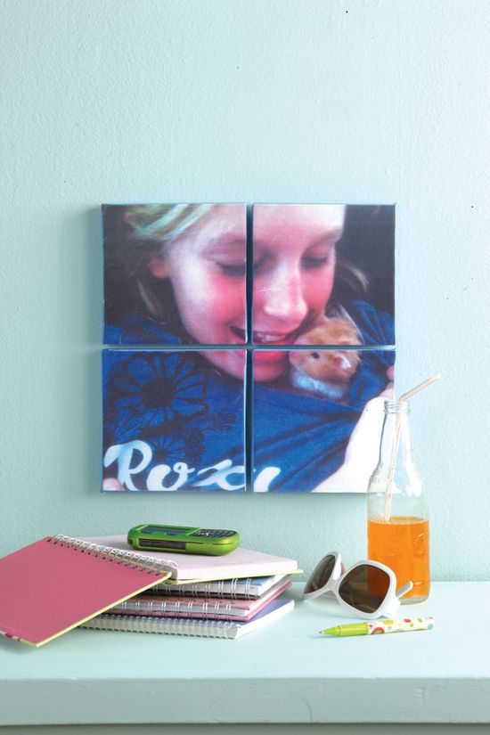 Make beautiful textured photo canvases for a #DIY Gift! #Crafts