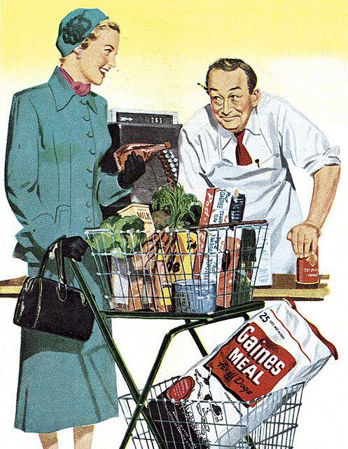 #vintage #shopping #1950s #supermarket