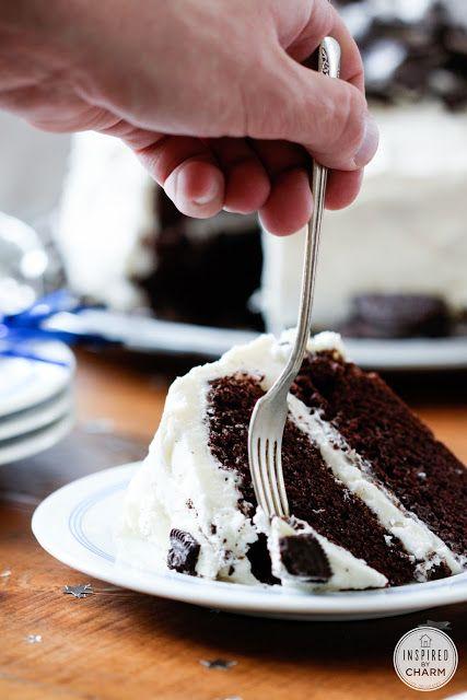 Cookies and Cream Cake from @Michael Dussert Dussert Dussert Wurm, Jr. {inspiredbycharm.com}