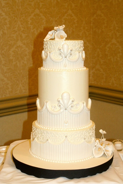 Three Tiered Buttercream Wedding Cake by Christin's Cakes, via Flickr