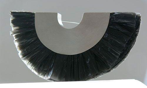 Malgosia Kalinska Brooch: Untitled 2011 Plastic bag, silver
