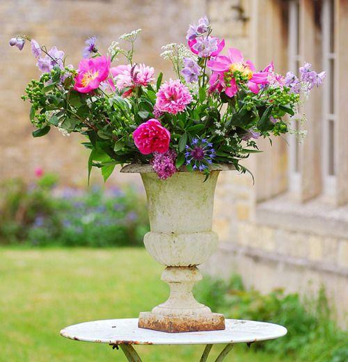 Garden bouquet in urn