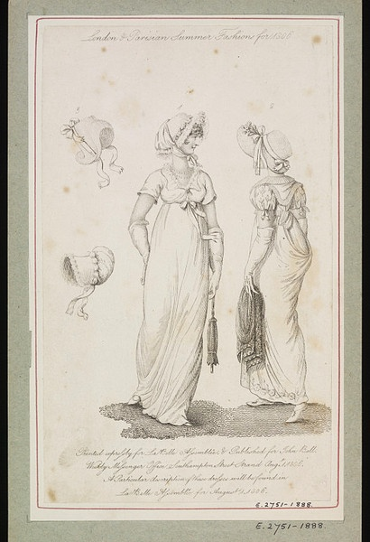 London and Parisian Fashions for Summer 1806