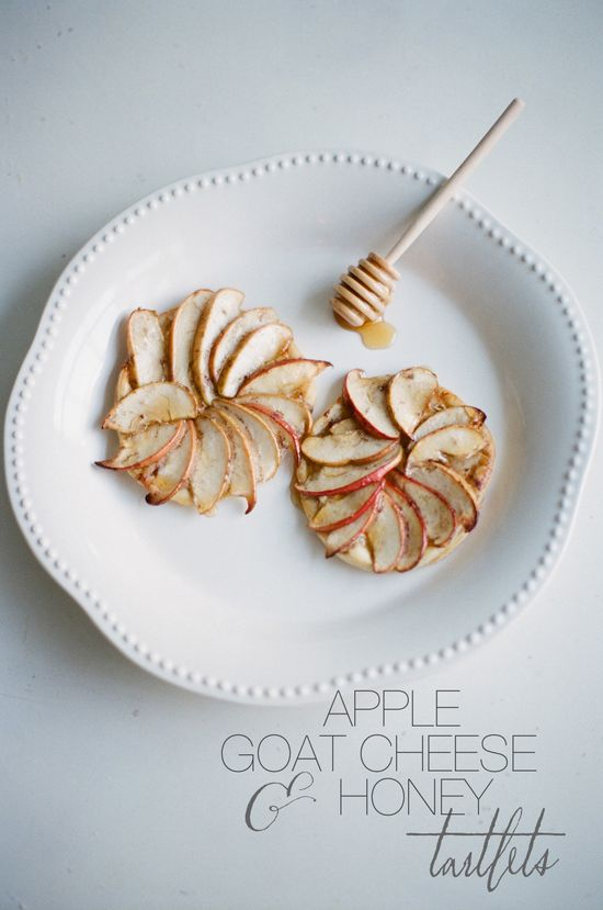 Apple, Goat Cheese, Honey Tartlets Photography By / jessicalorren.com/