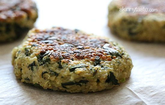 Quinoa and Spinach Patties