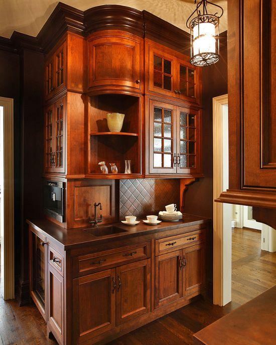 Dark Cabinets Kitchen kitchen #Interiors