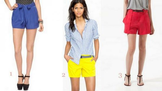 bold, bright shorts are sweet for summer day or night