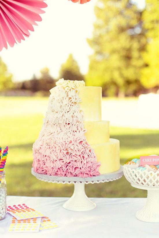 State Fair Ruffled Wedding Cake