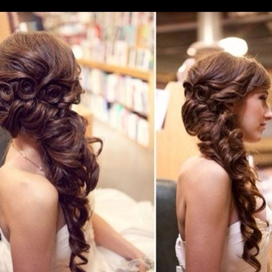 Very nice one sided hairstyle