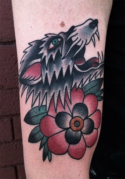 Wolf and Flower - Arm