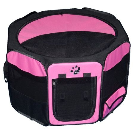Going on a trip and want to take your best friend along?  How about taking this octagon Pet Pen that folds up and you can move it around. Has a mesh removable top, waterproof floor, lightweight and folds flat for storage.  Mesh all around provides visibility for your pet.