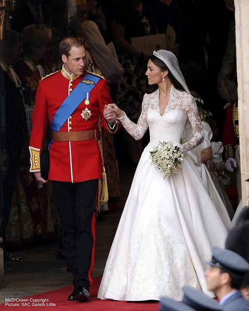 Duke and Duchess of Cambridge.  Everything about this wedding was perfect.