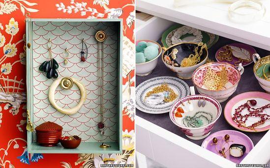 DIY: stylish jewelry storage