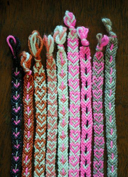 New (to you) friendship bracelet patterns