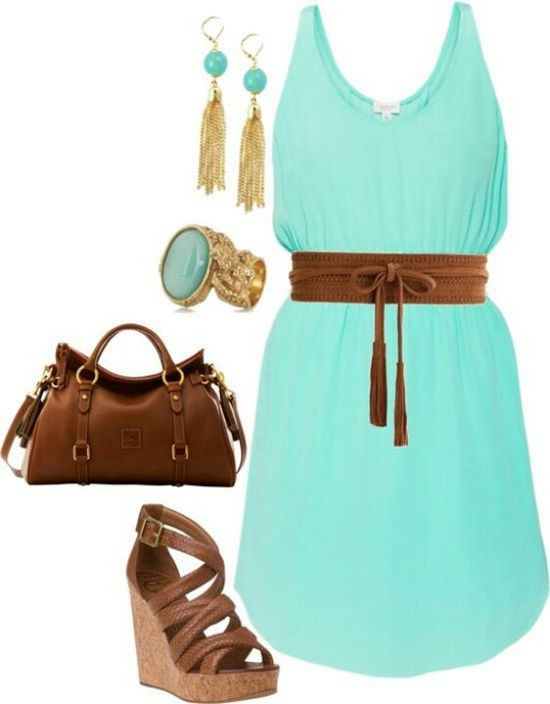 Summer outfit... Love the dress but not the heels.