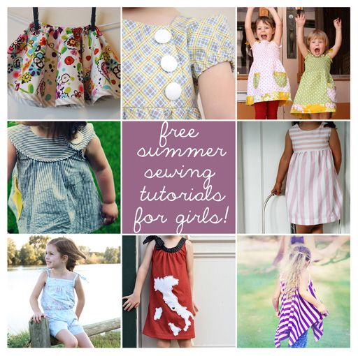 Sewing patterns for girls.