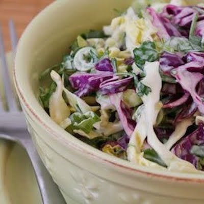 Spicy Mexican Slaw with Lime and Cilantro - LOVE cilantro!