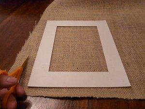 DIY burlap mat tutorial