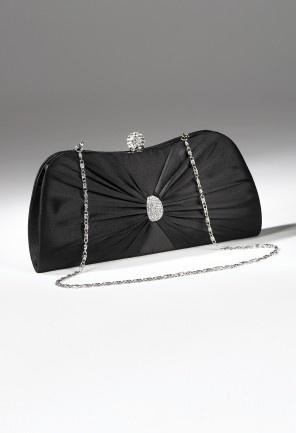 Handbags - Satin Handbag with Center Pleats from Camille La Vie and Group USA