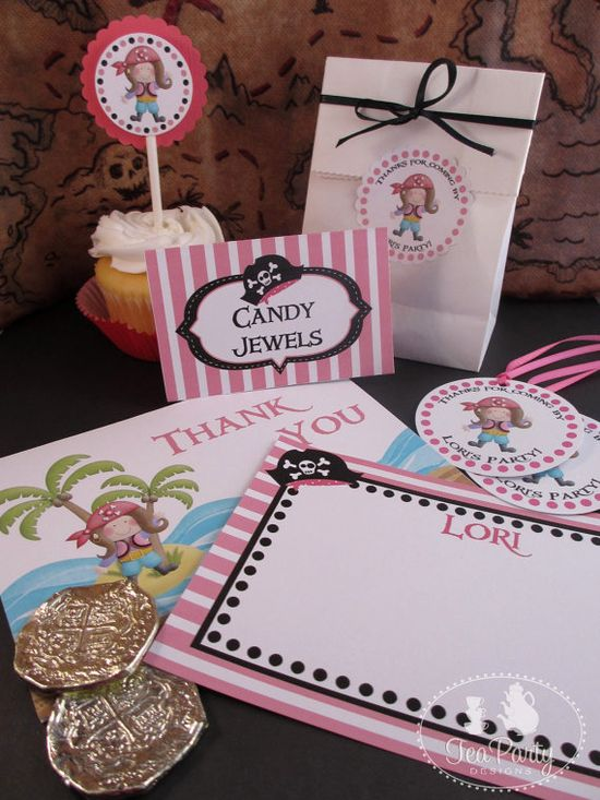 Girl Pirate Party Collection from Tea Party Designs
