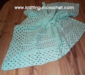 Free crochet baby blankets. Patterns to learn how to crochet a blanket easy.