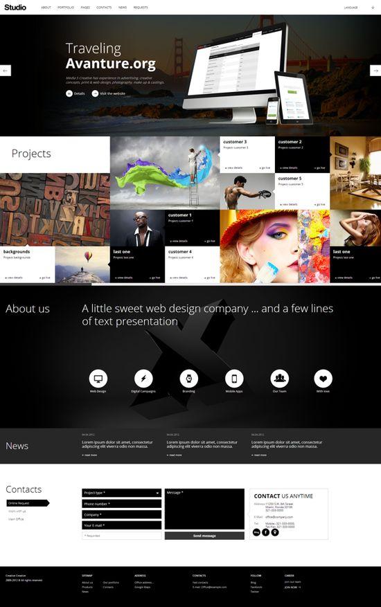 Studio Web Design Company by Zizaza - design ocean , via Behance