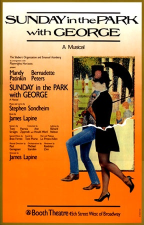 """The original production poster for """"Sunday in the Park with George,"""" 1984"""