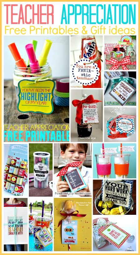 15 Teacher Appreciation Free Printables... Awesome last minute gift ideas! I can't believe school is almost over! #teachers #gifts