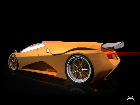 Wooden Concept Sports Car