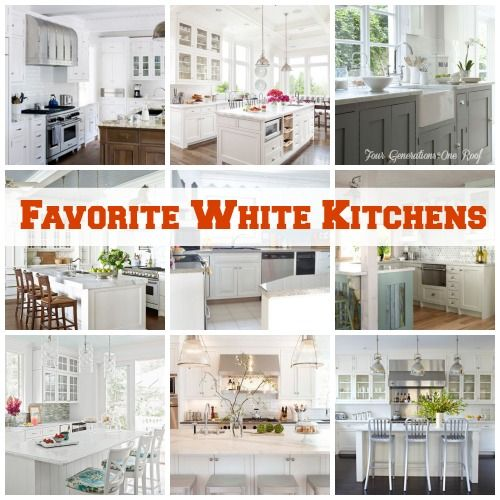 Favorite white kitchens from @Mandy Dewey Generations One Roof