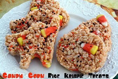 Mommy's Kitchen: Candy Corn Rice Krispie Treats {Happy Halloween}