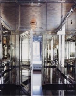 Mirrored Bathroom, designed by David Adler