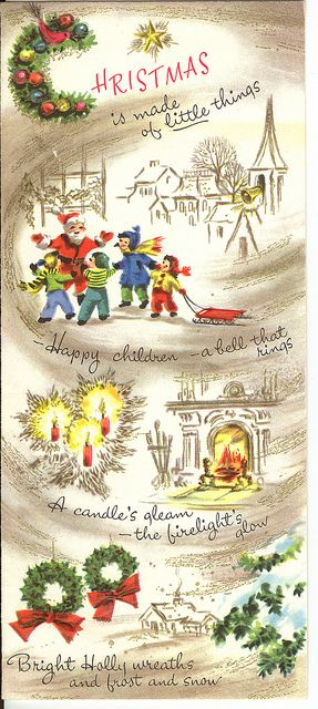 Christmas is made of little things. #vintage #Christmas #cards