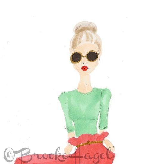 June - Fashion Illustration - Brooke Hagel