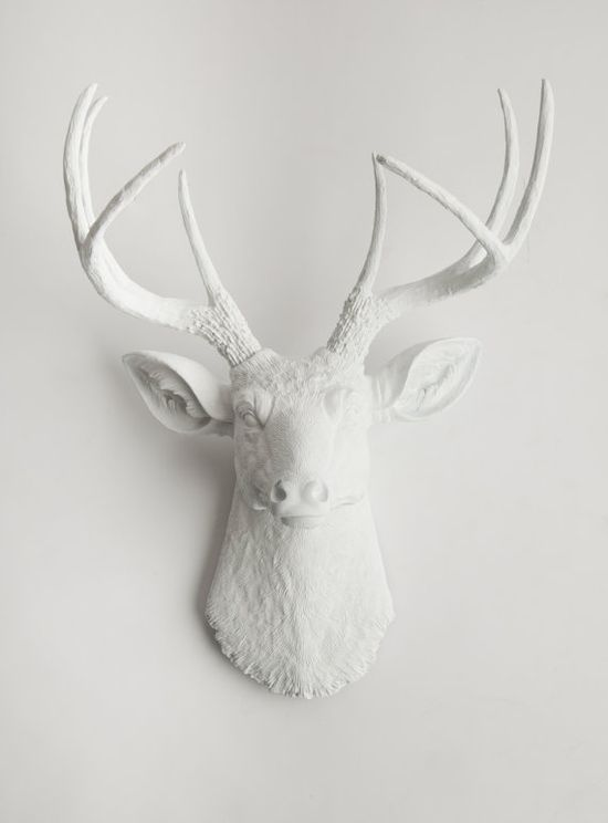 White Deer Head  The Templeton  White Resin by WhiteFauxTaxidermy, $94.99
