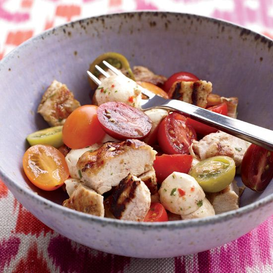 Chicken Caprese Salad // More Amazing Main Course Salads: www.foodandwine.c... #foodandwine