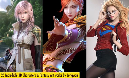 25 Incredible 3D Character designs and Game Fantasy Art works by Jung won Park. Follow us www.pinterest.com...