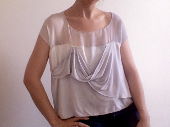 Bobbi- Eco Friendly Bamboo and Silk Blouse--SALE. $68.00, via Etsy.