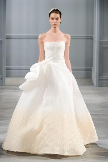 Ombre ball gown, Monique Lhuillier Spring 2014