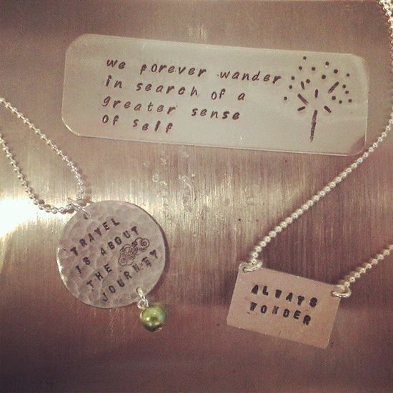 Learned how to metal stamp! Obviously they are all travel-themed... #handmade #jewelry