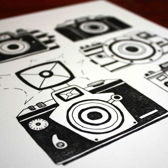 CAMERA Letterpress Art Print by 1canoe2 on Etsy, $20.00