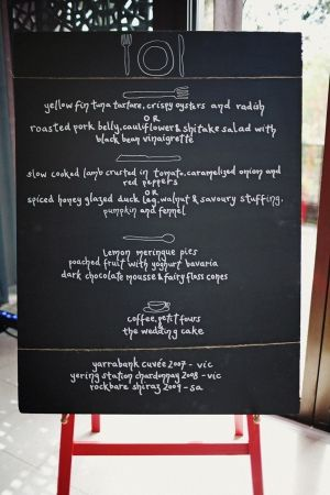 lovely chalkboard menu with drawings of utensils // photo by SergioMottola.com // styled by Georgeous.com.au