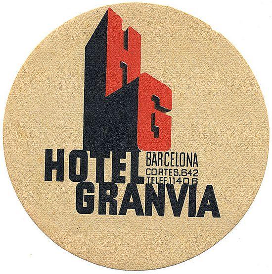 Hotel Granvia Luggage Label