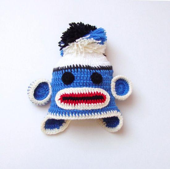 Baby Monkey Hat Baby Crochet Boy Monkey  Hat Baby by PeppyBaby, $28.00