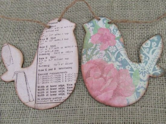 Shabby Birds Garland