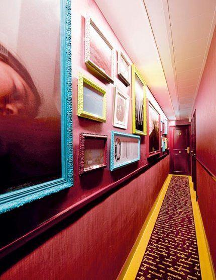 colourful hallway