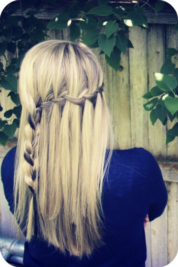 waterfall braid tut