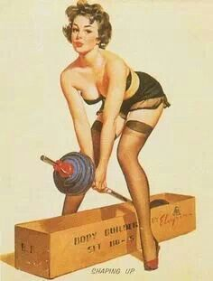 Work out pin up