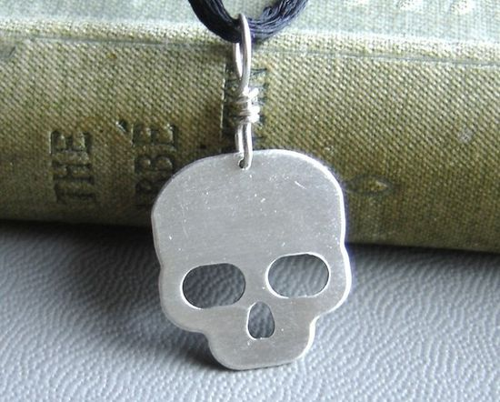 Boo! Skull Pendant  Skull Necklace  Skull Jewelry  by nicholasandfelice, $15.50